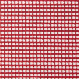 Red pvc coated polyester mesh fabric
