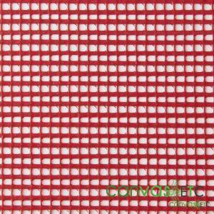 pvc coated polyester mesh fabric Red