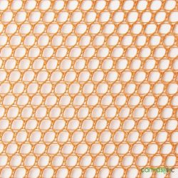Hex Mesh Fabric Orange