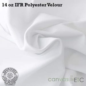 14 oz ifr velour white