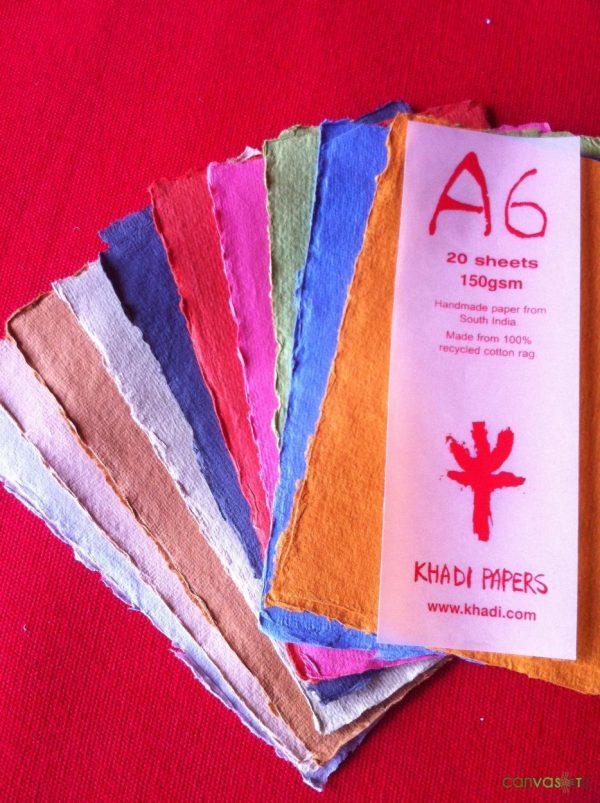 color paper sheets khadi