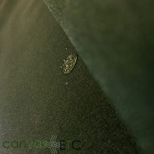 Waxed Canvas Material Olive Army Duck