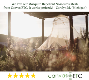 Noseeums Mosquito Repellent Mesh Customer Review
