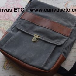 Waxed Canvas Messenger Bag DIY