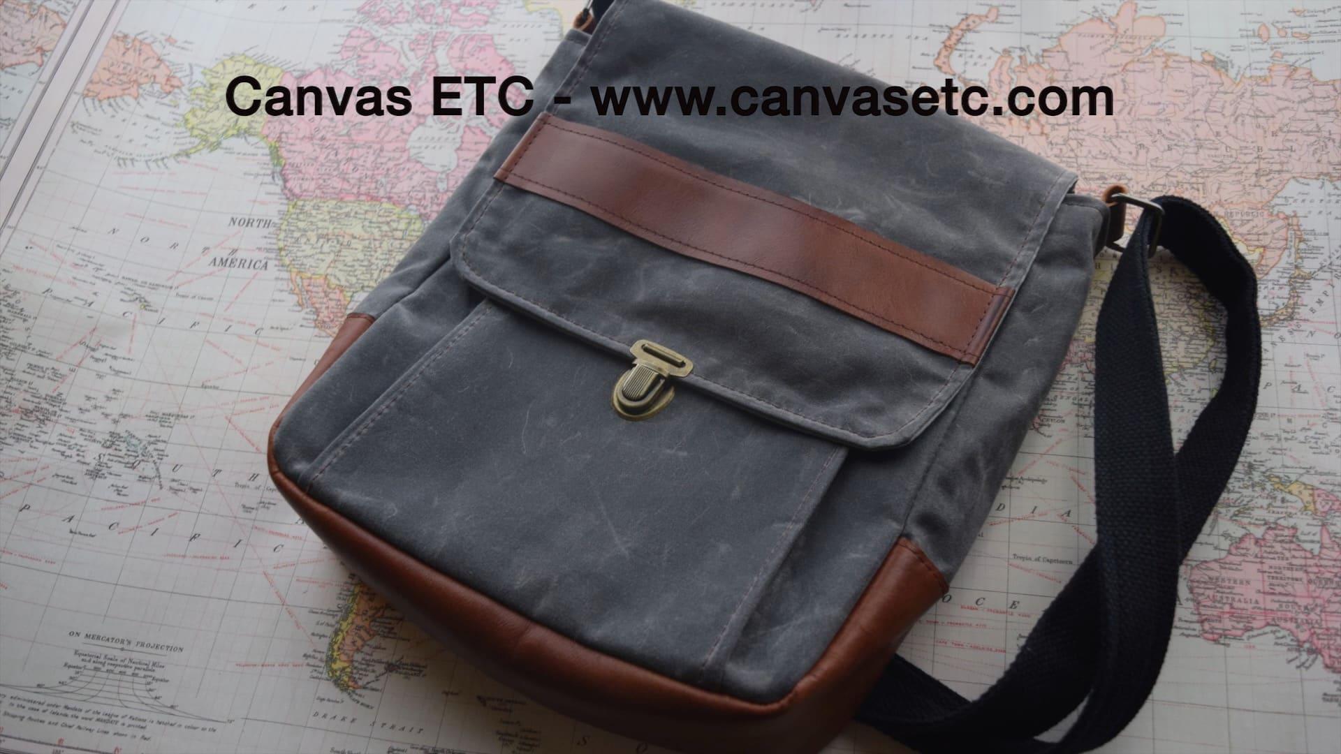Waxed Canvas Messenger Bag - DIY  8e05c0e751d92