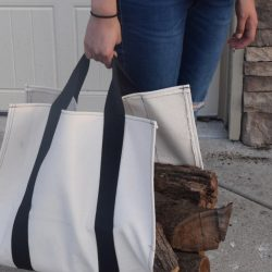 DIY Log Carrier Bag Heavy Duty Canvas