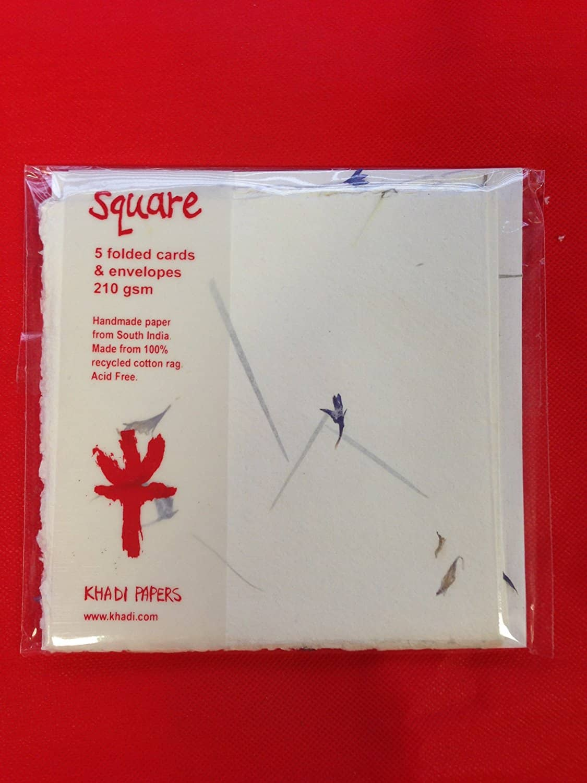 Square pressed flower paper cards envelope pressed flower paper mightylinksfo