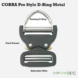Cobra Buckle Black Pro Style D-Ring
