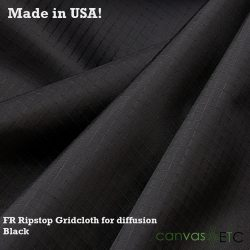 FR ripstop gridcloth Black