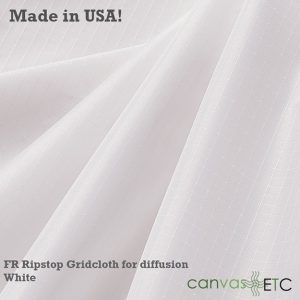 FR ripstop gridcloth White