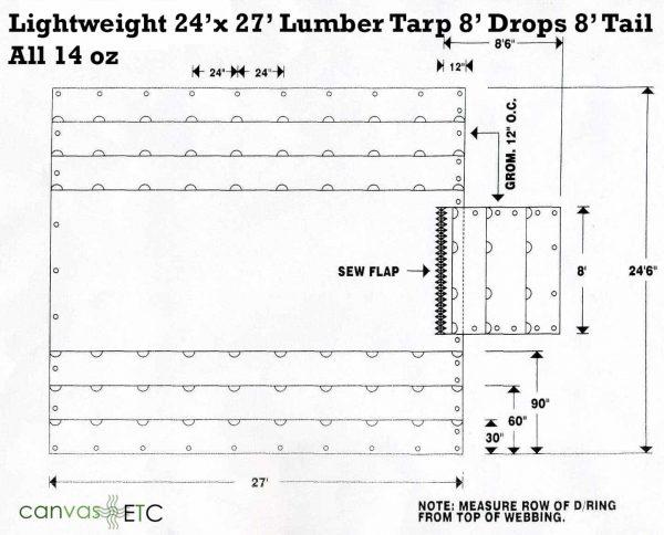 24x27 14 oz vinyl lumber tarp CanvasETC