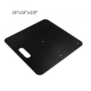 18x18 Heavy Duty Powder Coated Slip Fit Base