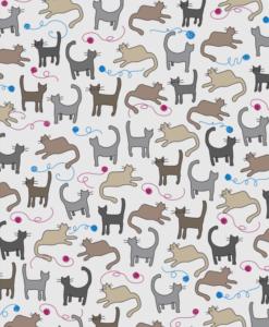 Cats fabric printing