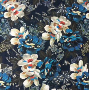 Sample finished fabric digitally printed