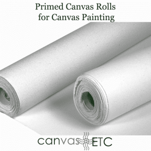 Primed canvas rolls
