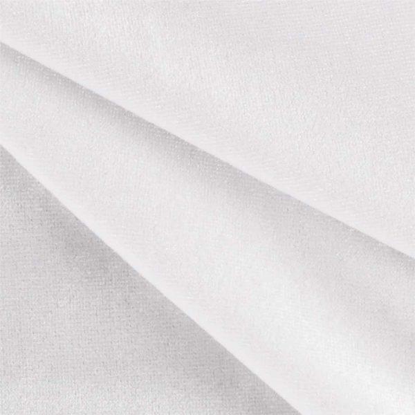 8'H Duvetyne Drape - White