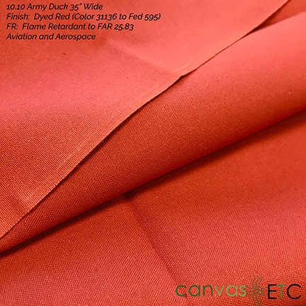 10oz Army Red Color 31136 FR FAR 25.83 CCC-C-419G
