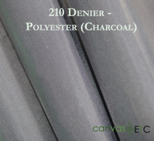 210 Denier Polyester Charcoal