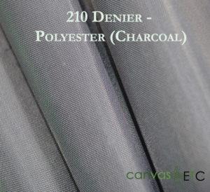 210 Denier Polyester Charcoal