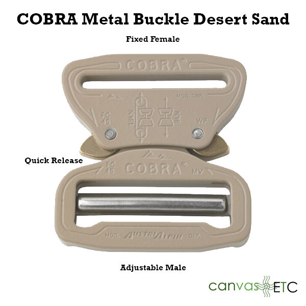 Cobra Buckle Sand Metal