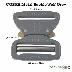 Cobra Buckle Wolf Grey Metal