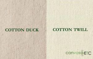 Cotton Duck vs Cotton Twill