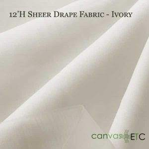 12'H Sheer Drape Fabric Ivory