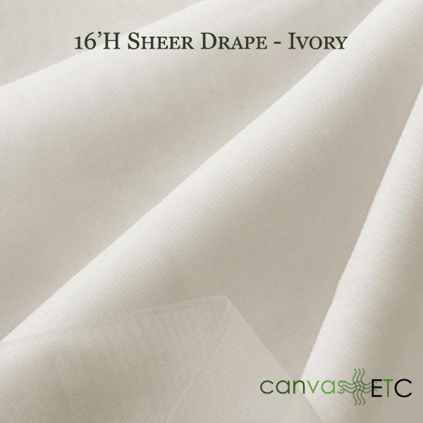 16'H Sheer Drape Ivory