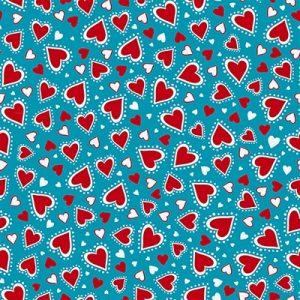 Madeira Hearts Blue