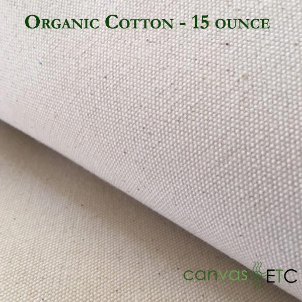 Organic cotton 3 - 15 ounce