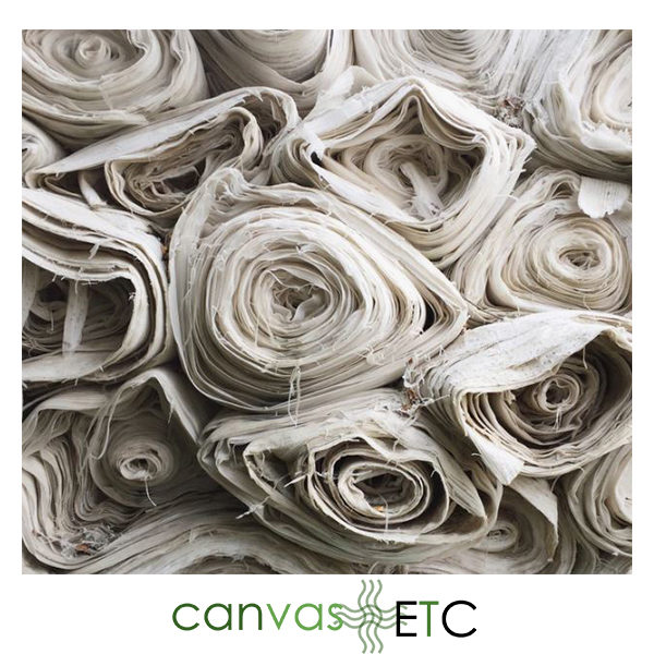 Rolls of Textiles at Canvas ETC.