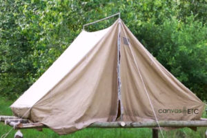 Raised Tent with Sunforger Army Duck