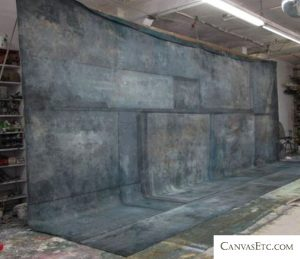 Painted canvas photography studio backdrop