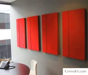 Acoustic sound absorption panels for conference room