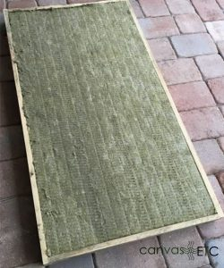 Sound panel before stretching acoustic fabric