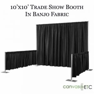 Trade show booth_10x10 with banjo fabric