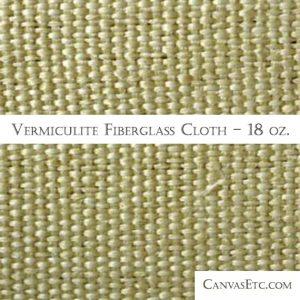 Vermiculite Insulation Fiberglass Cloth 18 ounces