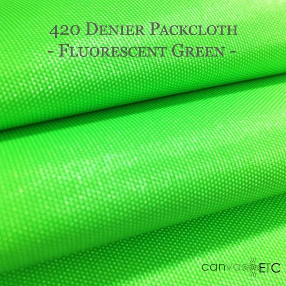 420 Denier Packcloth Fluorescent Green