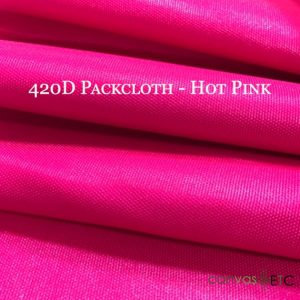 420 Denier Packcloth in Hot Pink