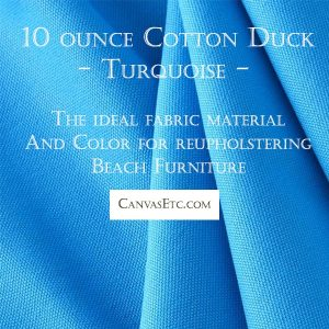 Turquoise cotton duck