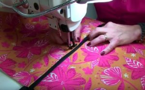 Stitching a pouf