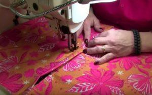 Topstitching the zipper flap
