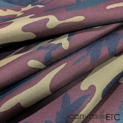 pvc backed polyester woodland camo