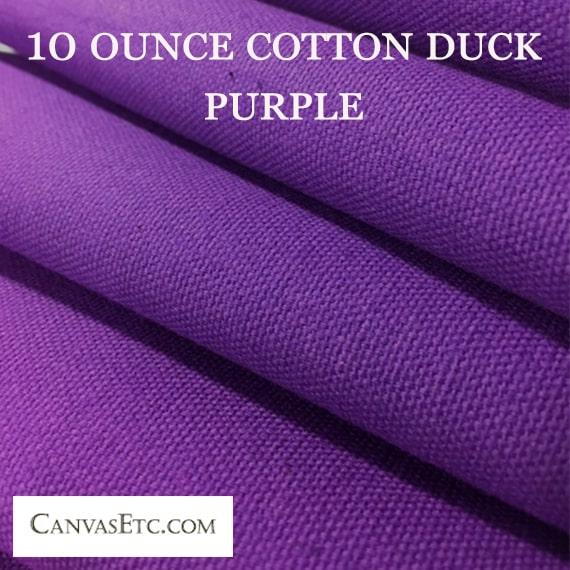 10 ounce purple cotton duck