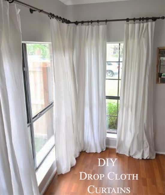 Drop Cloth Curtains A 5 Minute Diy Project Canvas Etc