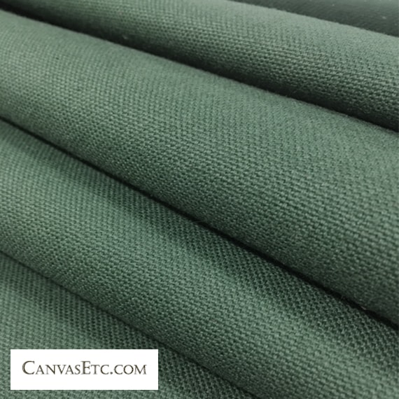 Forest Green 10 ounce cotton duck fabric