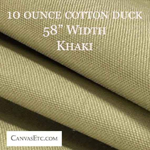 Khaki color 10 ounce cotton duck