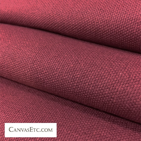 Merlot 10 ounce cotton duck fabric