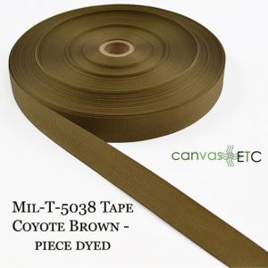 Mil-T-5038 Tape Coyote Brown - Piece Dyed