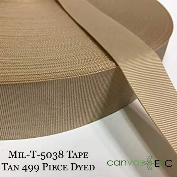 Mil-T-5038 Tape Tan 499 Piece Dyed